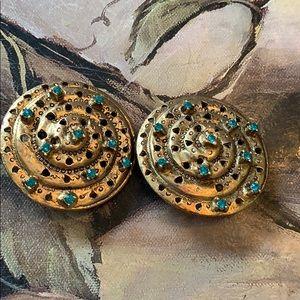 R.J.GRAZIANO Vintage Medallion Clip Earrings